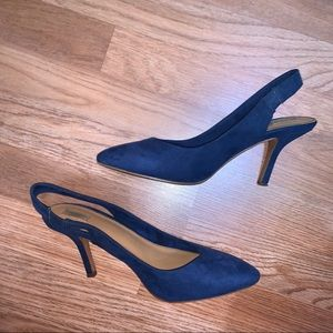 ZARA Suede Slingback Heels